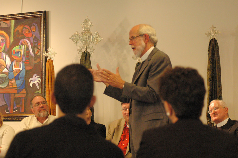 Presiding Bishop Mark S. Hanson responds to ELCA members at the September 19, 2010, Town Hall Forum.