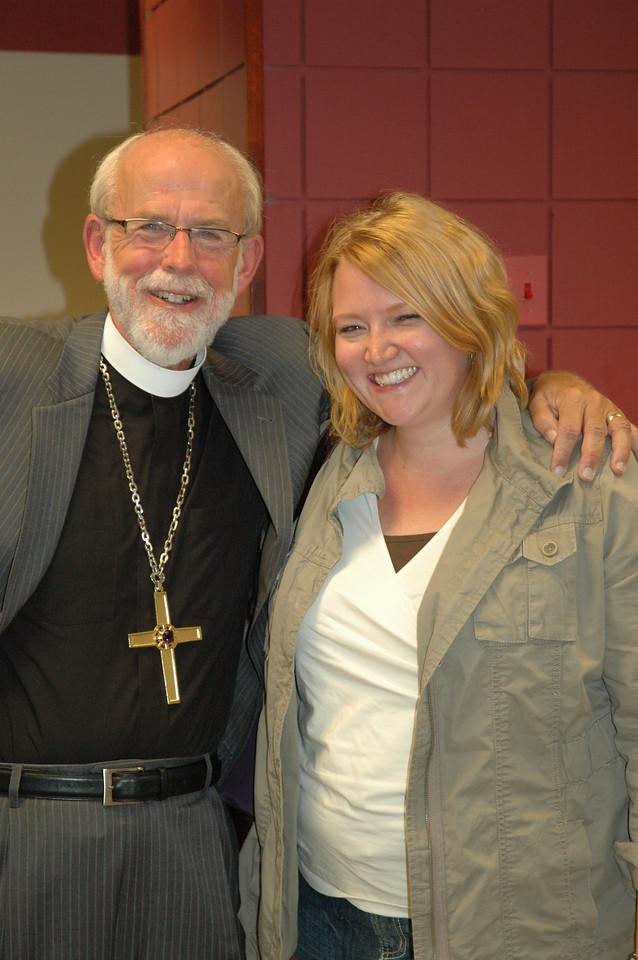 Presiding Bishop Mark S. Hanson with Erin Clark