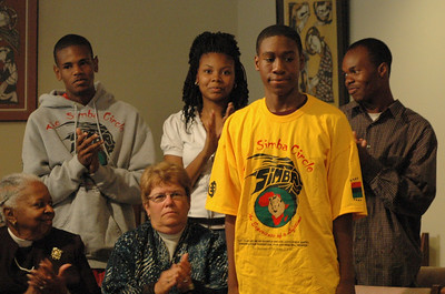 The studio audience show their support for to the youth and young adult members of the ELCA. Simba (Safe In My Brothers' Arms) Circle is a mentoring program of the ELCA.