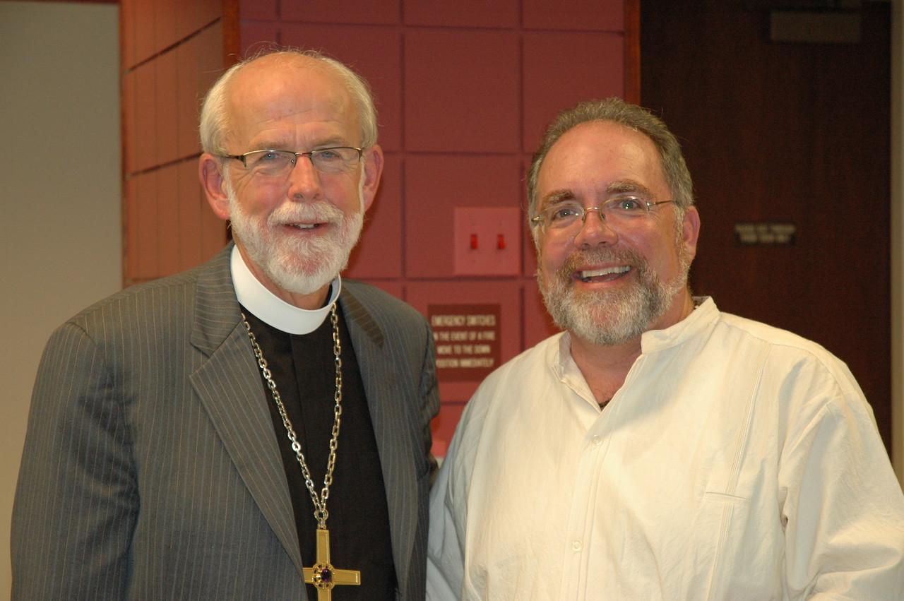 Presiding Bishop Mark S. Hanson with the Rev. John Dumke