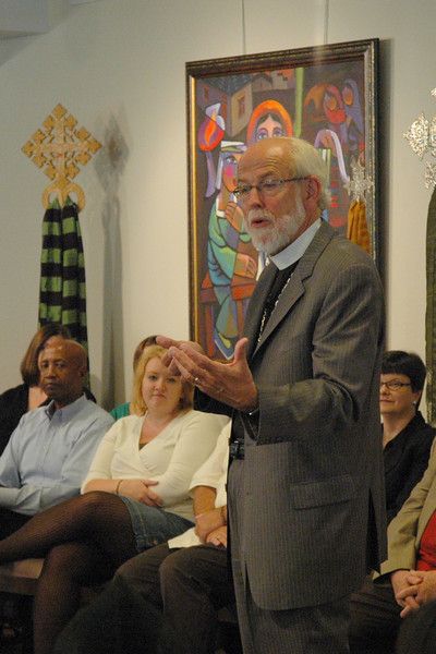 Presiding Bishop Mark S. Hanson responds to a question submitted by an online audience member at the September 19, 2010, Town Hall Forum.