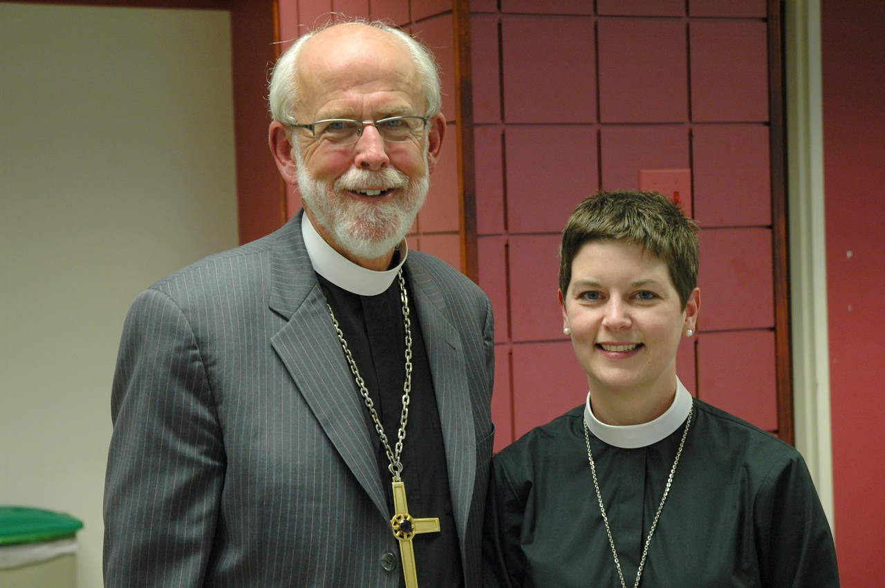 Presiding Bishop Mark S. Hanson with the Rev. Carrie Ballenger-Smith