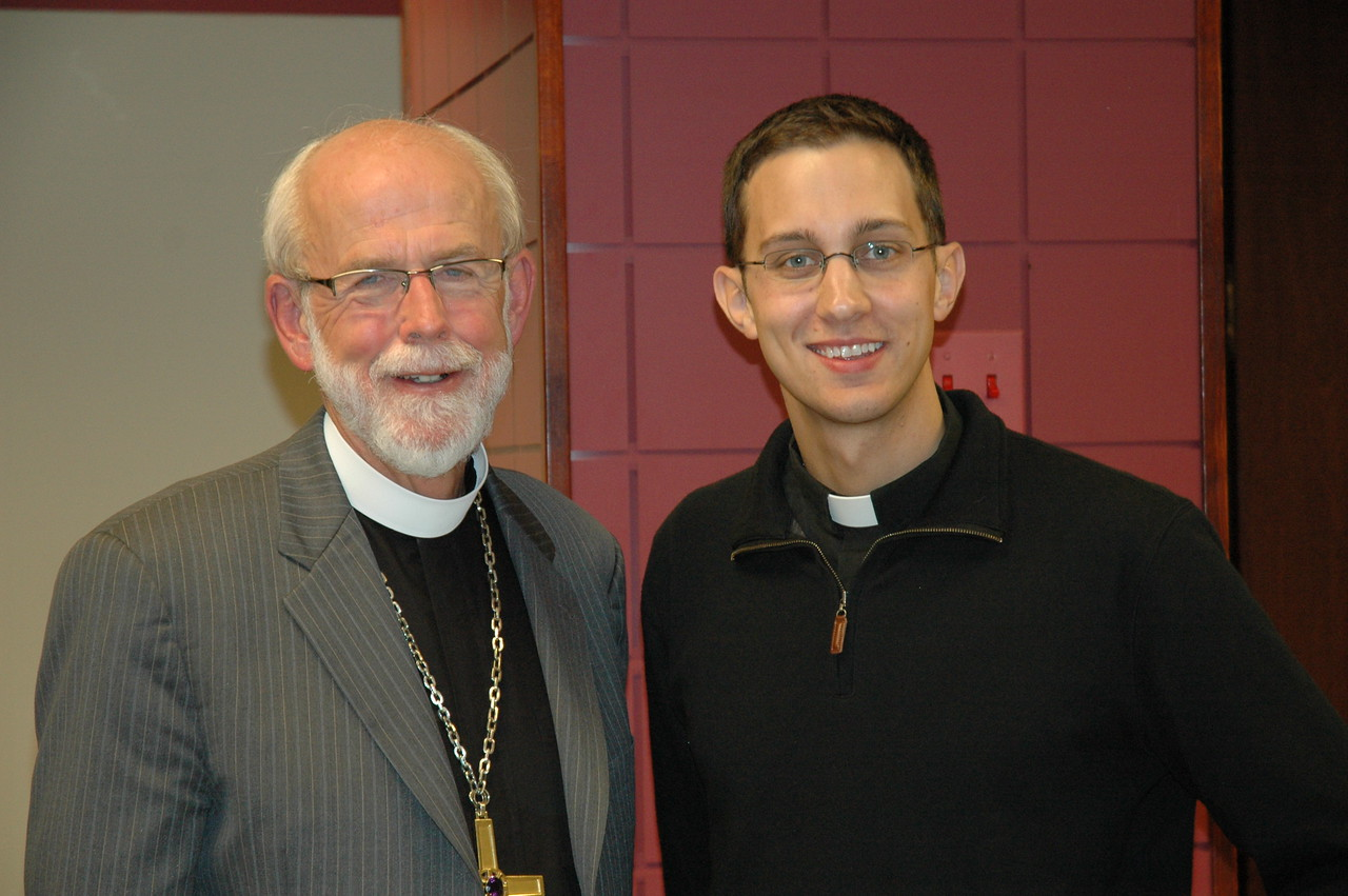 Presiding Bishop Mark S. Hanson with the Rev. Mark Williamson