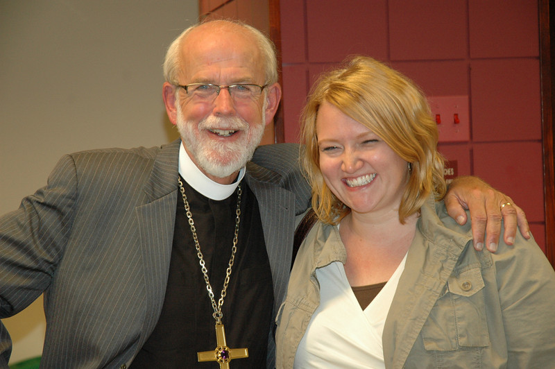 Presiding Bishop Mark S. Hanson with Erin Clark