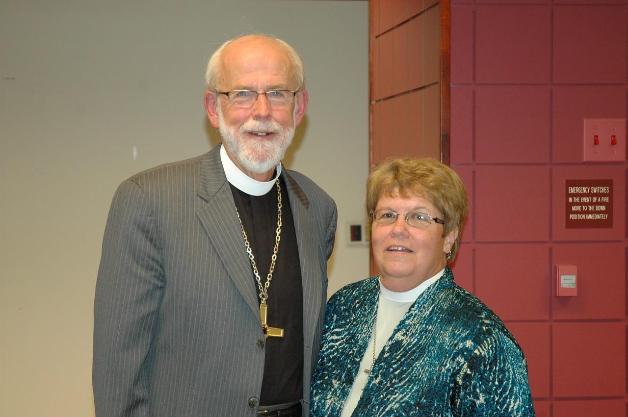 Presiding Bishop Mark S. Hanson with the Rev. Joanne Fitzgerald