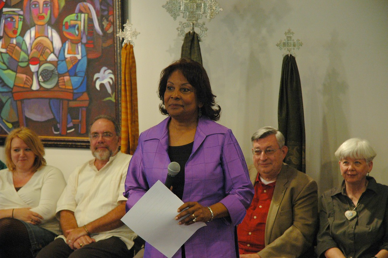 The Rev. Dr. Wyvetta Bullock, Executive for Administration, Office of the Presiding Bishop, hosted the September 19, 2010, ELCA Town Hall Forum.