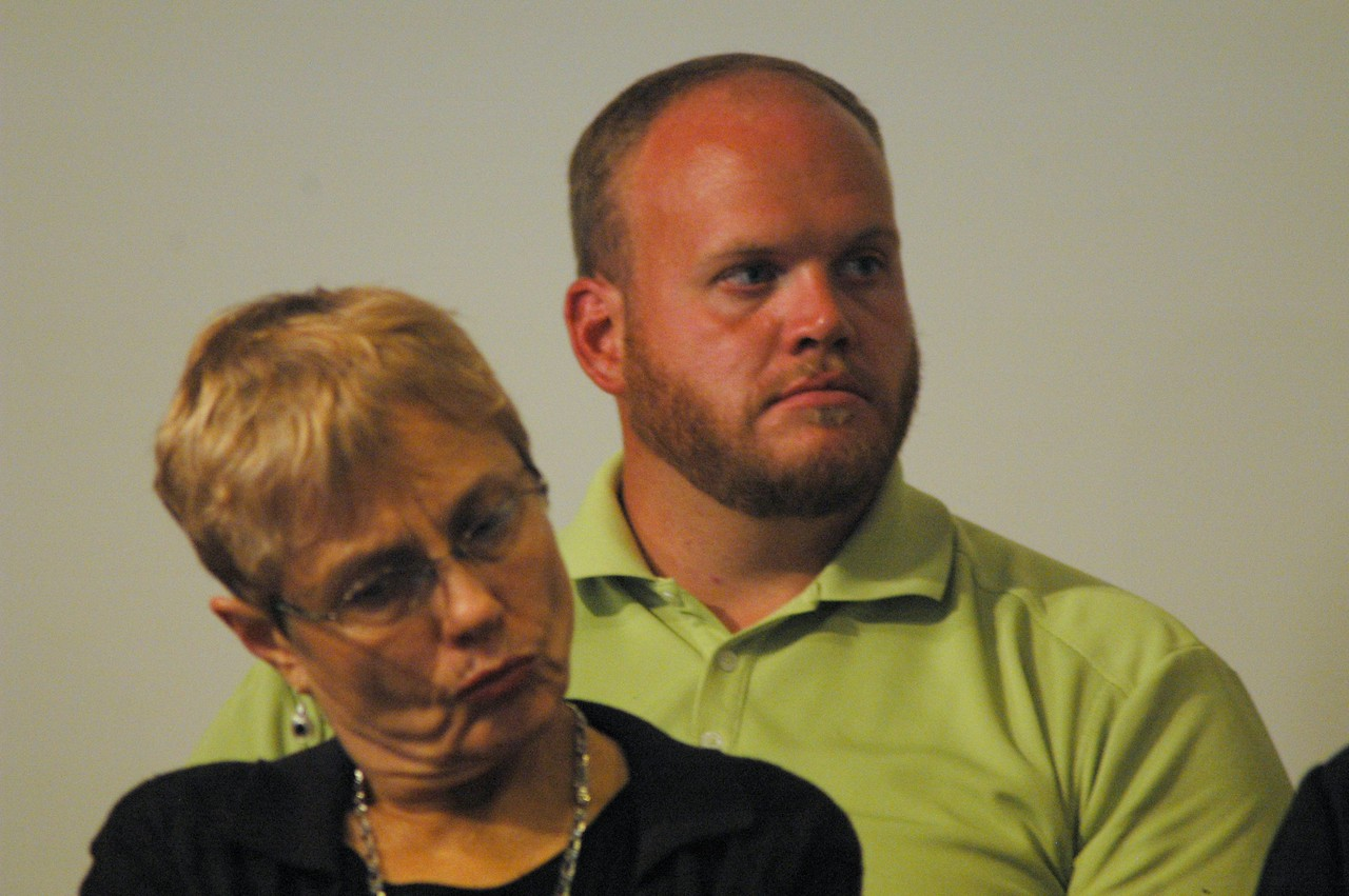 ELCA members at the September 19, 2010, ELCA Town Hall Forum, listen to Bishop Hanson respond to a question submitted by a studio audience member.