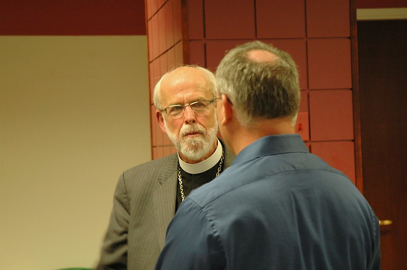 Presiding Bishop Mark S. Hanson with Anthony Riani