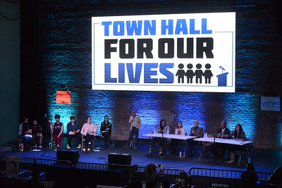 Town Hall for our Lives event, April 7, 2018, in Chico, California. (Carin Dorghalli -- Enterprise-Record)
