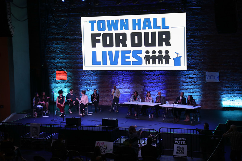 Town Hall for our Lives, April 7, 2018, in Chico, California. (Carin Dorghalli -- Enterprise-Record)