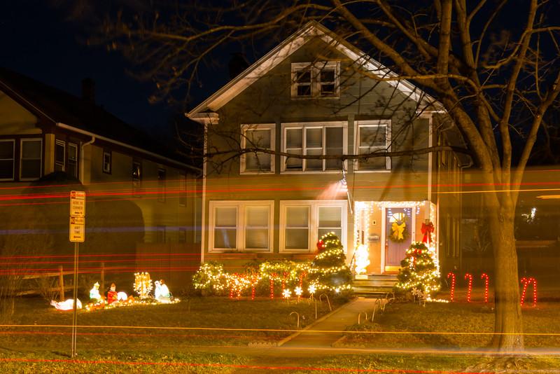 Light Streaks & Christmas Lights on Grant Ave