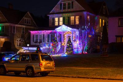 Christmas Lights along Lenox Ave