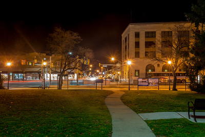 Main Street or Downtown at Night