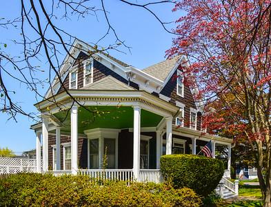 Green  & White Porch