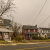 Homes along Mill Street in Westwood,New Jersey