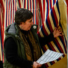 KRISTOPHER RADDER - BRATTLEBORO REFORMER<br /> Billie Slade, of Dummerston, Vt., enters the voting booth during Town Meeting Day on March 7, 2017.
