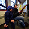 KRISTOPHER RADDER - BRATTLEBORO REFORMER<br /> Lisa Mendelsund, of Brattleboro, Vt., fills out her ballot with her son Louie Alden, 7, watching during Town Meeting Day on March 7, 2017.