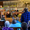 KRISTOPHER RADDER - BRATTLEBORO REFORMER<br /> Residents of Townshend approve an article to hire a town manager during Town Meeting Day on March 7, 2017.