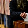 KRISTOPHER RADDER - BRATTLEBORO REFORMER<br /> Dummerston residents head to the polls at Dummerston School during Town Meeting Day on March 7, 2017.