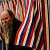 KRISTOPHER RADDER - BRATTLEBORO REFORMER<br /> Zeke Goodband, of Dummerston, Vt., leaves the voting booth at Dummerston School polling station during Town Meeting Day on March 7, 2017.