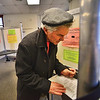 KRISTOPHER RADDER - BRATTLEBORO REFORMER<br /> John Ungerleider, of Brattleboro, fills out his ballot at the Municipal Building on March 6, 2018.