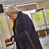 KRISTOPHER RADDER - BRATTLEBORO REFORMER<br /> Frances E Kirchner, of Wilmington, fills out her ballot at Twin Valley Elementary, in Wilmington, on Tuesday, March 6, 2018.