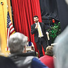 KRISTOPHER RADDER - BRATTLEBORO REFORMER<br /> James Valente, a lawyer representing Whitingham, address the audience at Twin Valley Middle High School about the lawsuit over education funding during Town Meeting Day on Tuesday, March 6, 2018.