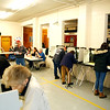 HOLLY PELCZYNSKI - BENNINGTON BANNER Voters fill the Shaftsbury Fire Department on Tuesday morning to vote during town meeting day in Shaftsbury VT.