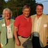 Town Council Vice President Ann Canedy, Marstons Mills Historical Society President Bob Frazee and Precinct 5 Town Councilor James Crocker. In the background, former Town Councilor June Daley.