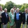 Town Councilors past and present pose outside the Old Selectmen's Building on the occasion of its 125th anniversary. James Crocker, Hank Farnham, Ann Canedy, Rick Barry, Will Crocker, Fred Chirigotis.