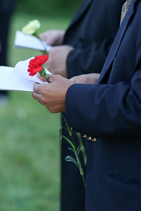 The town held a Remembrance Vigil at the Canton Peace Pole on June 16, 2016 to honor those killed in the Orlando Nightclub Shooting earlier in the week.  Photo by John Fitts