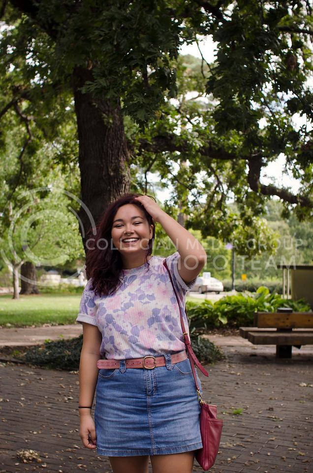 Valerie Mays enjoys her time in Manhattan (Saya Kakim  Collegian Media Group)