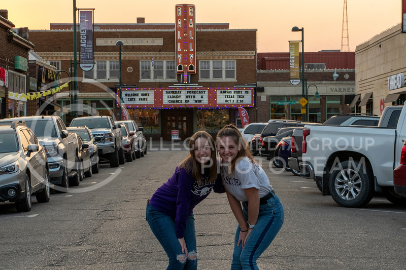 Enjoying Aggieville, Cami Wells and Lacy Fisher show off their hometown favorites.