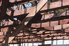 02 Ceiling joists with roof removed 1802 Schoolhouse 1975