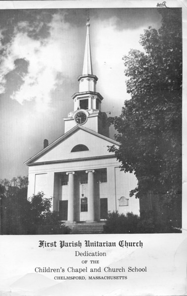 2009_10_14 First Parish Church School Dedication