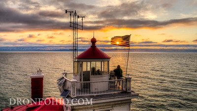 FAIRPORT HARBOR WEST BREAKWATER LIGHTHOUSE SUNSET