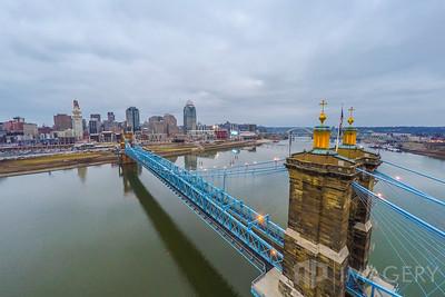 Aerial - John Roebling Bridge - Side