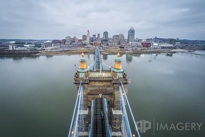 Aerial - John Roebling Bridge