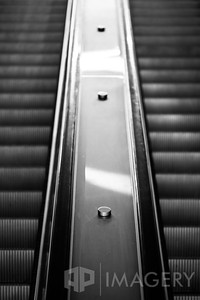 Escalator in B&W