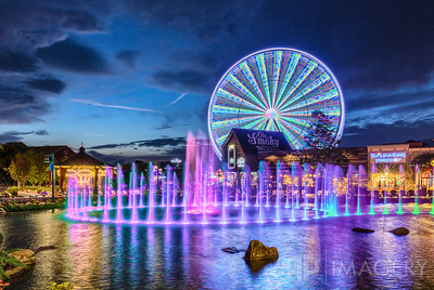 Fountains and Ferris Wheel