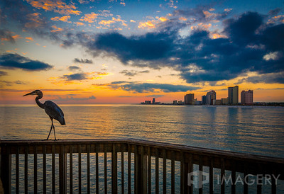 Alabama State Pier - Sunset and Crane