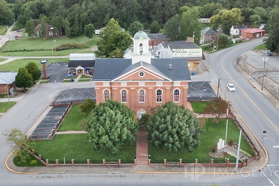 Aerial - Hancock County Courthouse
