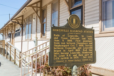 Hawesville Railroad Station - Marker 2