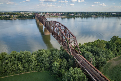 Aerial - RR Bridge over Henderson