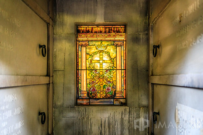 Stained Glass in Mausoleum