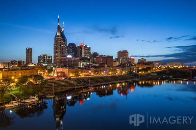 Nashville - Skyline at Twilight