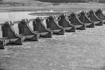 Cannelton Lock & Dam - B&W