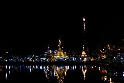 Temple at Night, Mae Hong Son, Thialand