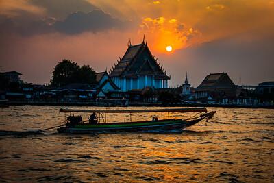 Sunset on Chao Payara, Bangkok, Thailand