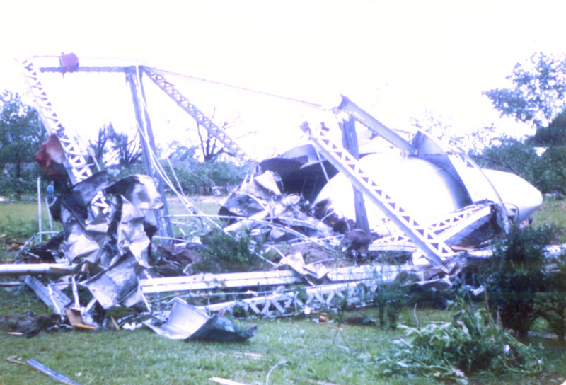 "ALAPAHA TORNADO	<br /> <br /> On the morning of May 11, 1952, around 7:20 a.m., a telephone operator working at the Nashville office got a call from Alapaha. The caller revealed that ""much of Alapaha has been destroyed.""  That might have been an overstatement, but, it was soon learned that a tornado, had hit Alapaha, Georgia. The magnitude F3 tornado had cut a path about 200 yards wide and 4 miles long through parts of Alapaha and the surrounding area. The tornado produced a reported 11 injuries, and 2.5 million dollars in property damage.<br /> Property damage was extensive, with the town's water tank being blown down and destroyed by the powerful winds, though observers said no evidence of the water from the tower was discovered.  Others reported books and other items being found scattered throughout the area, including along the banks of the Alapaha River. Alapaha's Lion's Club raised $4500 to help replace the town's water tank."